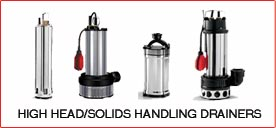 HIGH HEAD/SOLIDS HANDLING DRAINERS